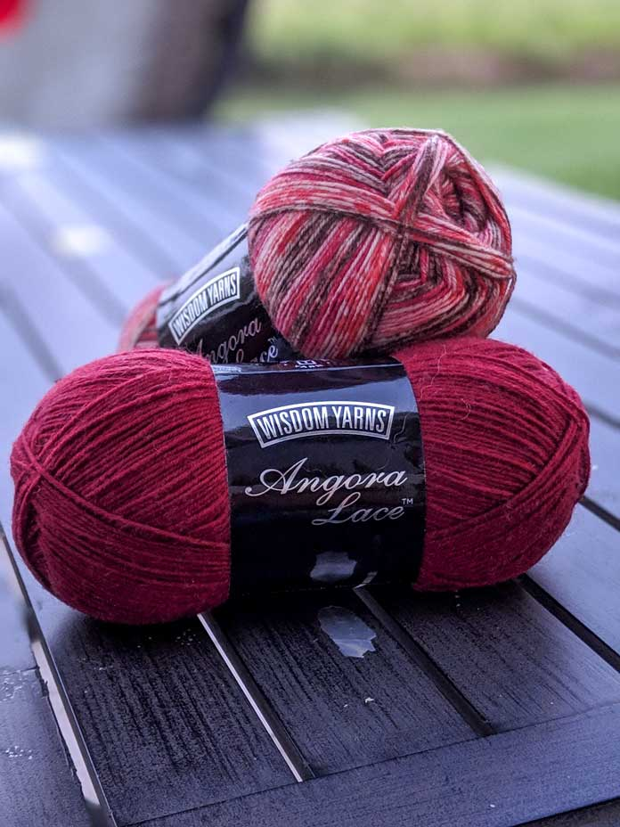 Angora Lace, unique fingering weight yarn, perfect for Syrah Cowl