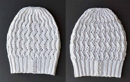 This free zig-zag lace hat pattern out of Bella Cash is completely reversible.