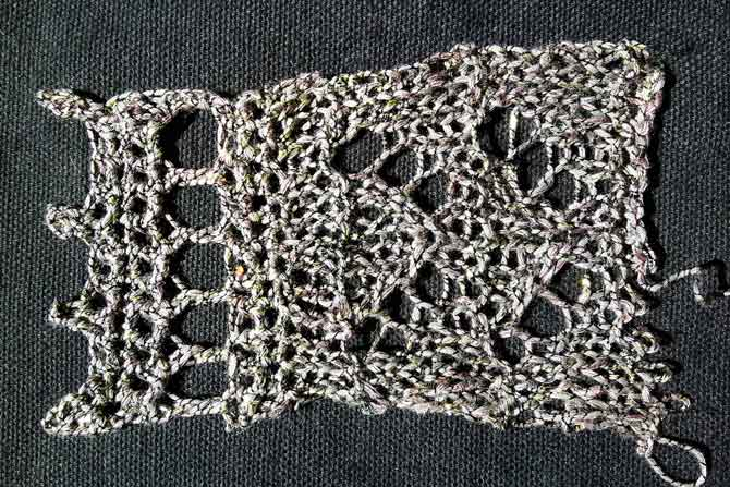 Crocheted picot edging
