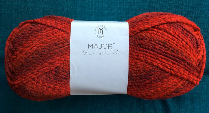 Different shades, and hues of red shift through this skein of Major.
