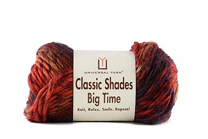 Skein of Classic Shades Big Time in the Campfire colorway