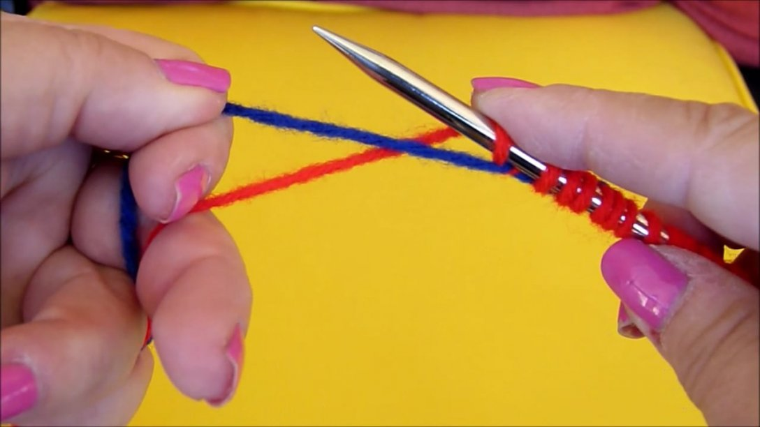 The trick to knitting a waste yarn provisional cast on