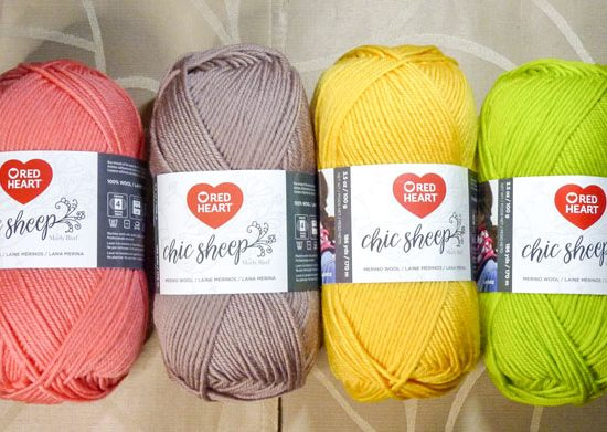Some of the bright and happy colorways of Red Heart Chic Sheep