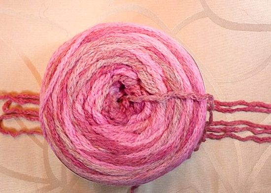 Ombra yarn cake, self-striping yarn