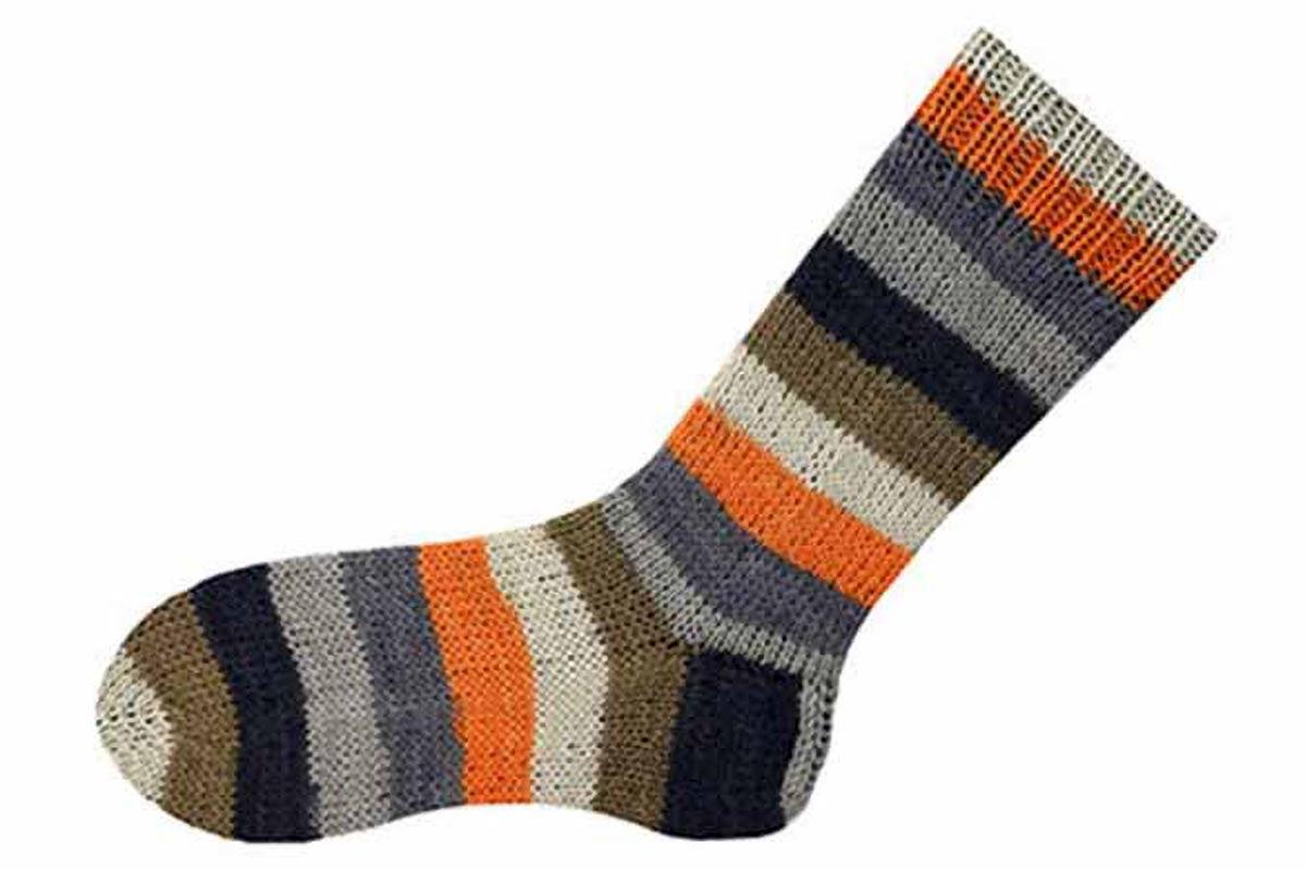 "Wisdom yarns free toe-up sock is a no-nonsense pattern akin to what some knitters call ""vanilla socks."""