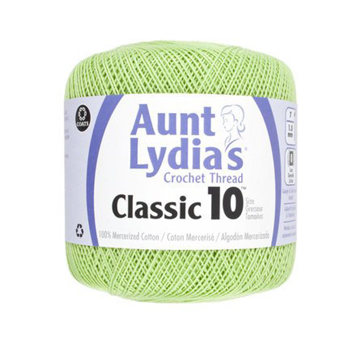Knitting with DOA (dear old aunt) Aunt Lydia's Classic 10 crochet thread