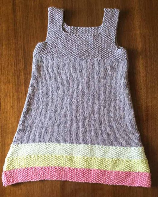 This tunic will fit a size 2 toddler. The pattern has been written for 12-18 months, size 2, and size 4.