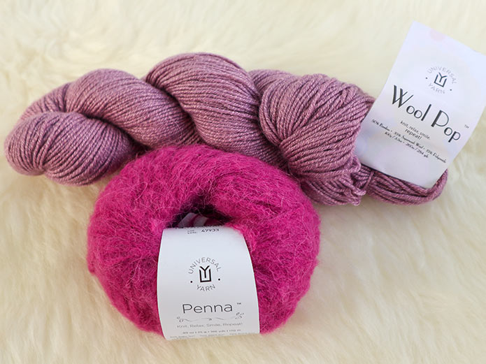 Combining Penna with another yarn makes for endless possibilities