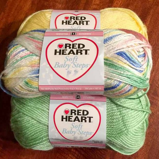 Just because this is classified as baby yarn, doesn't mean that it can't become something soft and luxurious for mom too!