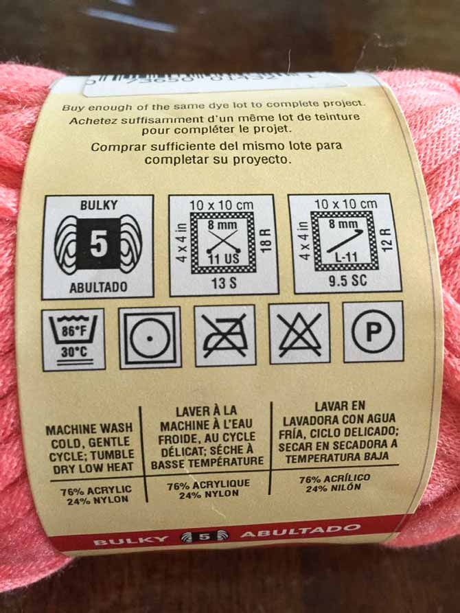 Washing instructions and all the important information.