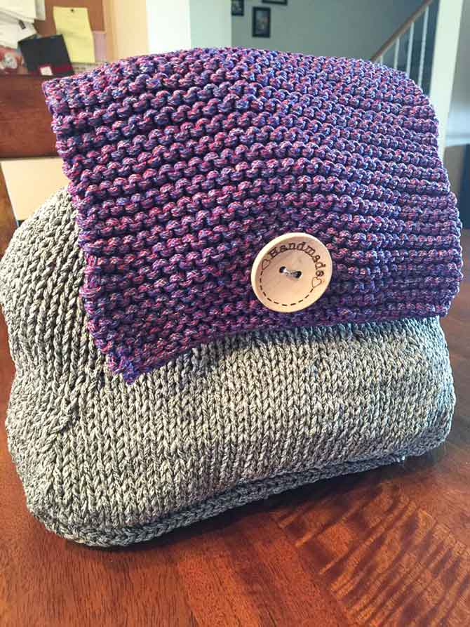 Cordial Yarn Is Ideal For A Knitted Market Backpack