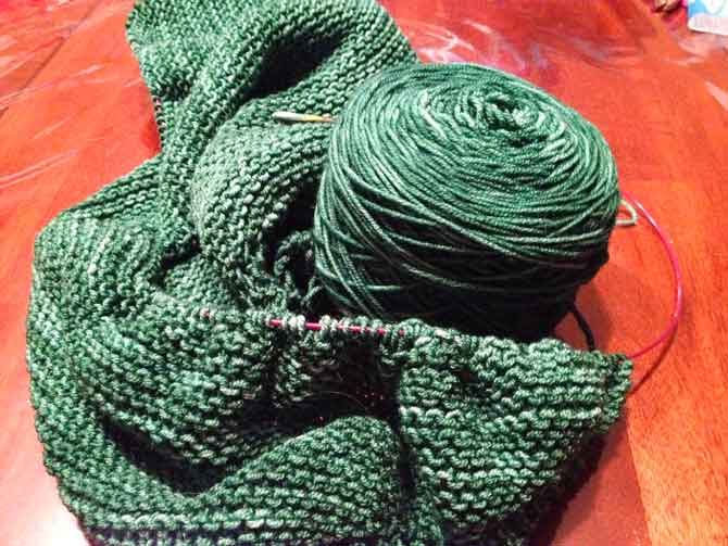 If you possibly can, always knit with quirky named yarn, the above is Men in Tights.