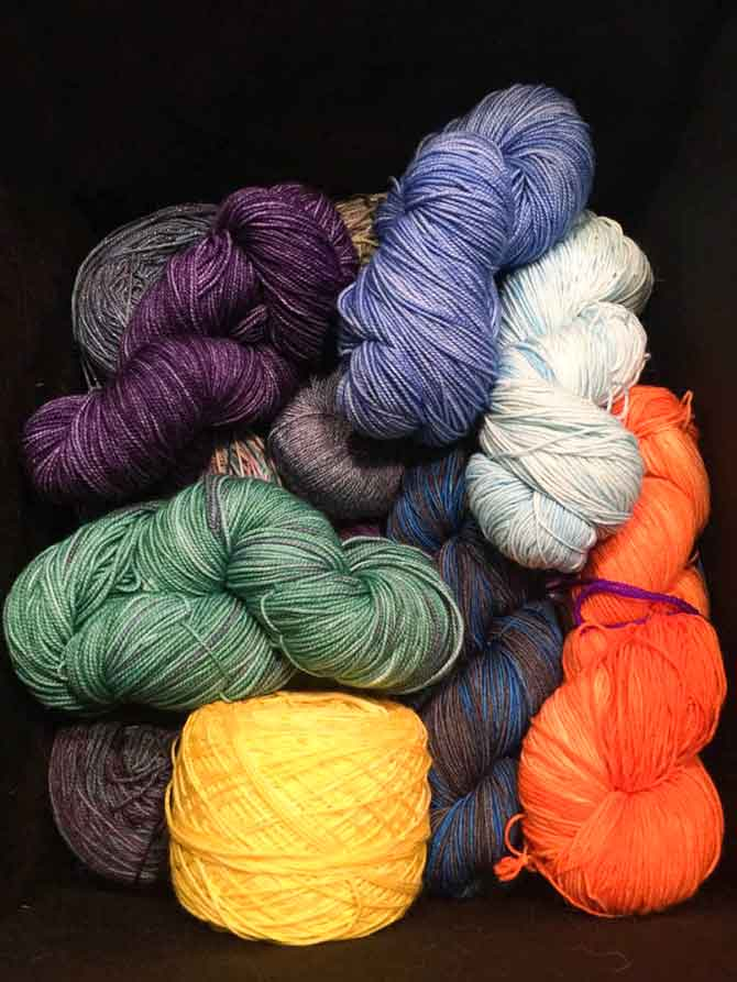 All the hand dyed yarn does not come cheap either!