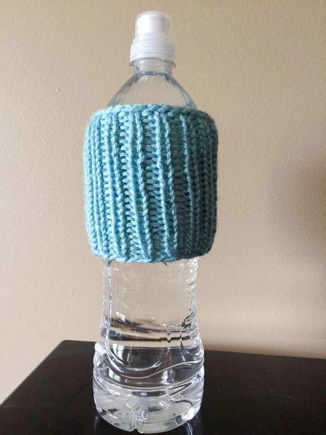 Since the fabric is ribbed, it will cling to any oddly shaped bottles.