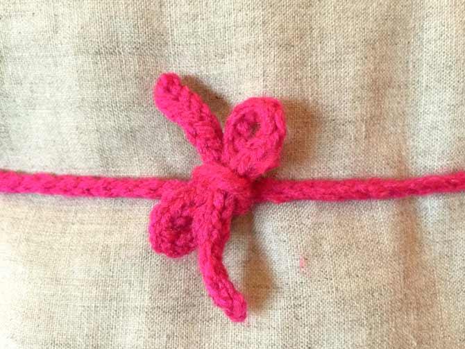 I-cord bow