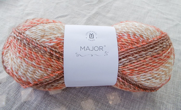 Major is a handsome, chunky acrylic yarn that is machine washable.