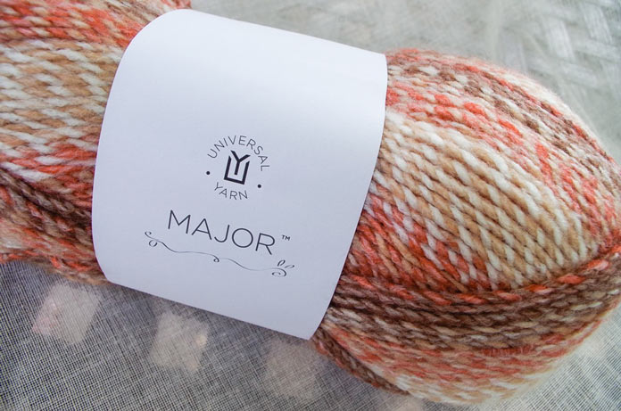 The Russet Colorway of Major is warm and inviting, like anything knit from this yarn.