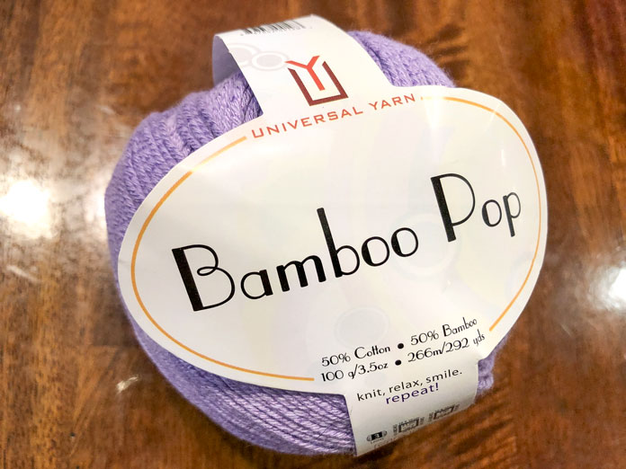 Bamboo Pop is the perfect yarn for lace stitches