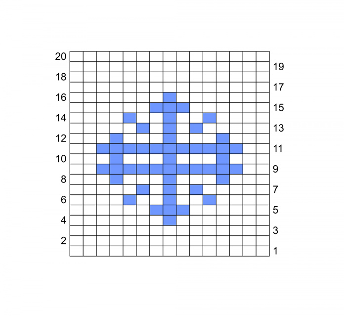 Snowflake chart for double-knit coaster