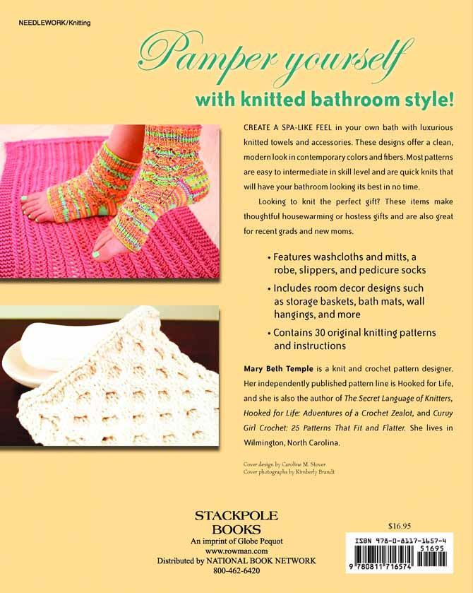 Back cover of Bath Knits by Mary Beth Temple