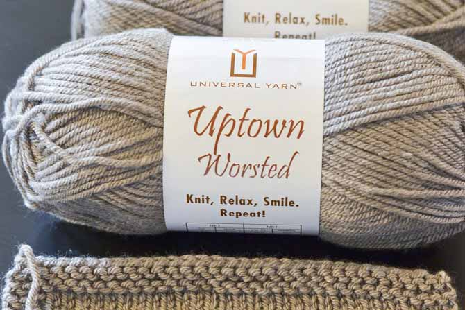 Uptown Worsted is new from Universal Yarns, and is a soft, springy, anti-pilling acrylic yarn. This is a versatile worsted weight yarn for a variety of projects!