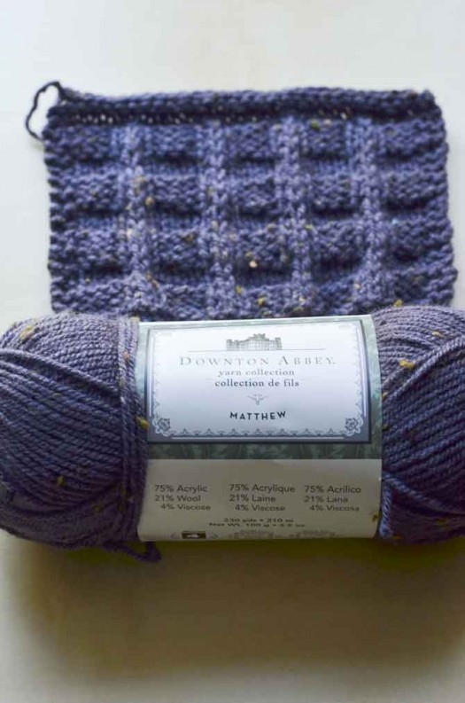 The Matthew yarn from the Downton Abbey Yarn Collection is a versatile worsted/Aran weight tweedy blend of wool & acrylic.