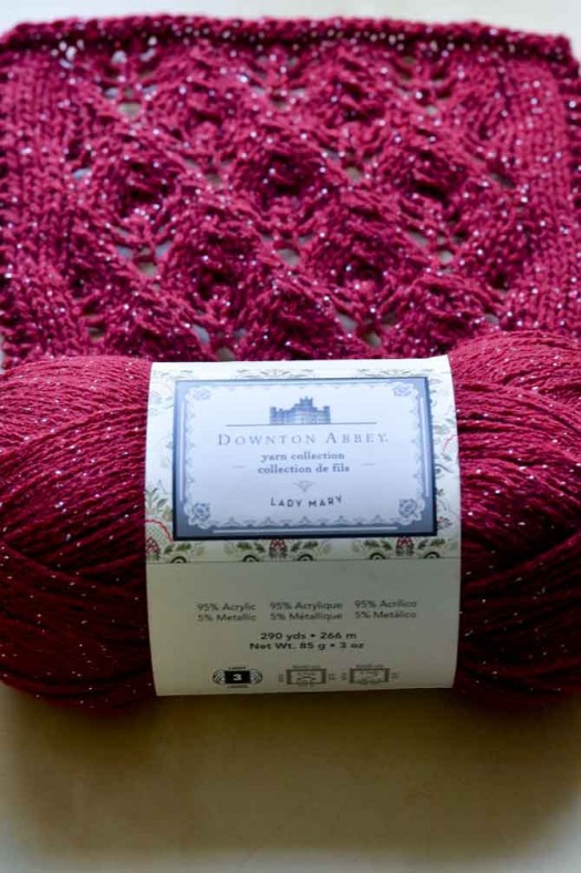 The Downton Abbey Yarns have so many lovely choices for fun knit-along projects! The Lady Mary line has an elegant sparkle.