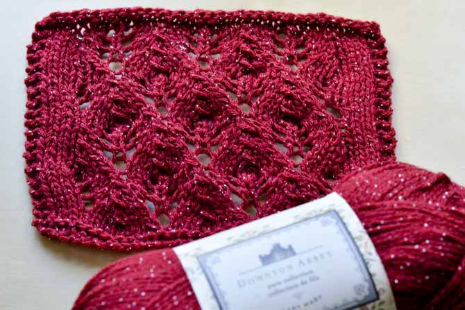 The Budding Romance Shawl uses this beautiful lace stitch. Try your hand at some lace knitting with this pattern!