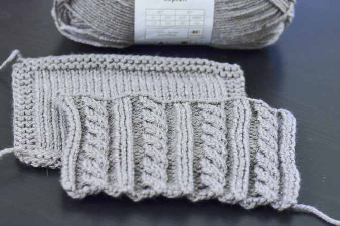 Uptown Worsted has a springy feel to it which makes it a nice choice for cabled stitches.