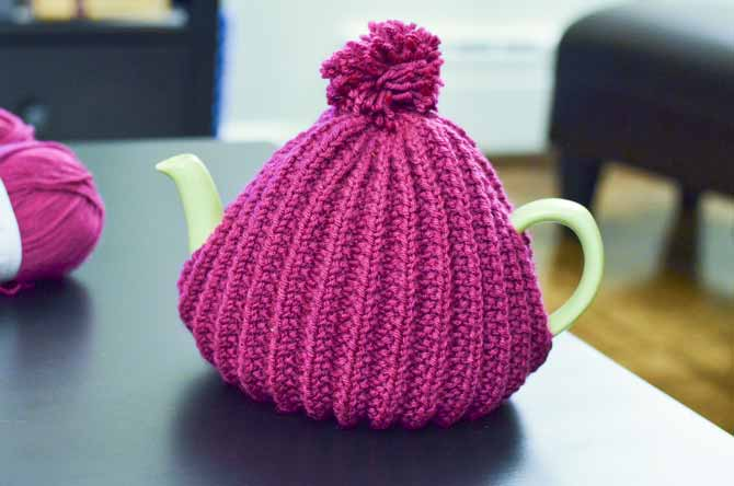 Why not choose a bright color to keep your tea both cozy and cheerful? Tea cozies make great gifts, too.