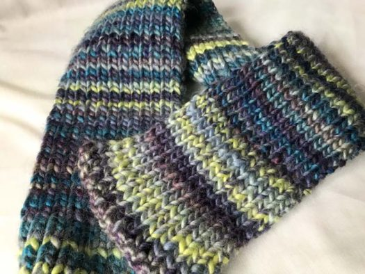The reversible scarf in all its glory!