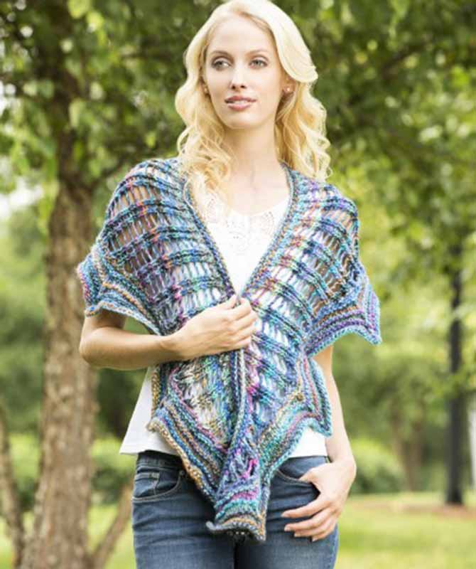 """Wear """"dragon wing"""" lace to jazz up a casual outfit, or wear it wrapped several times around your neck as a cowl."""