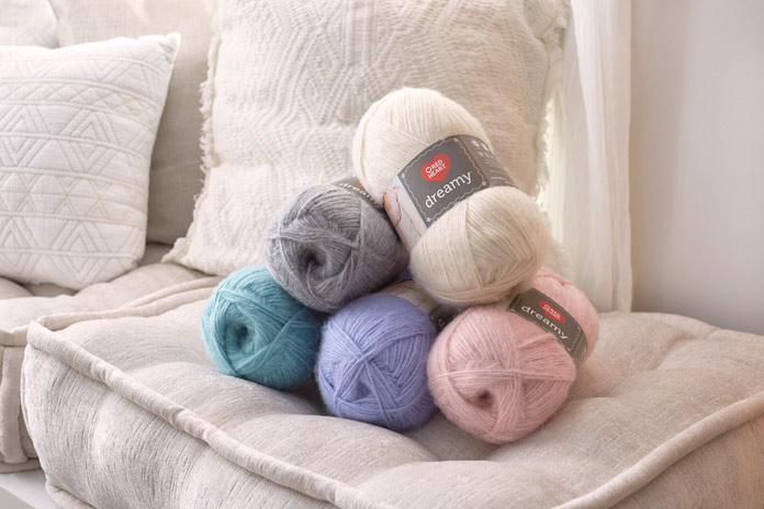 Just looking at Red Heart Dreamy yarn Solids makes you cozy all over.