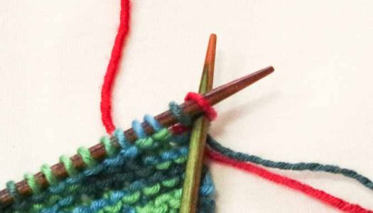 Placing the cable cast on stitch back onto the left needle