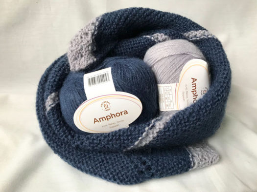Amphora colors Dusky and Blue Shadow looking cozy for the winter months.