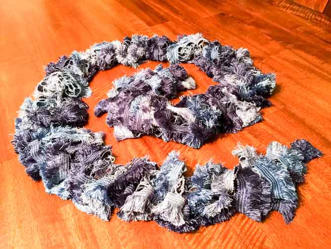 These garlands not only add that pop of color, but texture as well.
