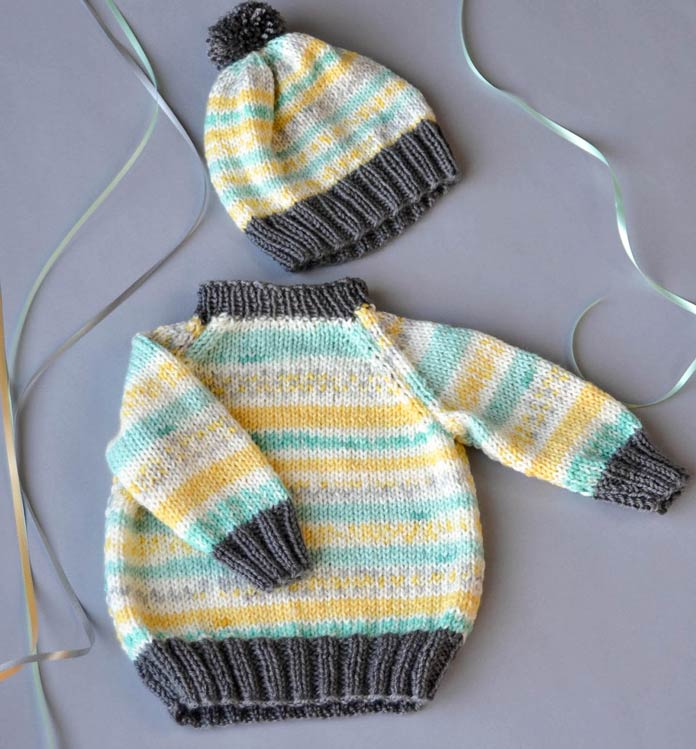Combine a solid Uptown DK yarn with one of the Uptown DK Magix colorways for a vibrant look!