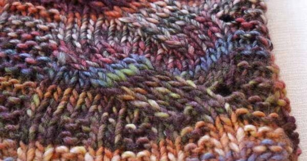 Knit A Cowl With A Mock Cable Pattern