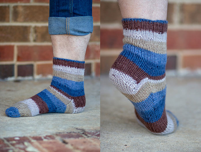 Perfect socks to wear with jeans. Knitting with Universal Yarn Deluxe Stripes