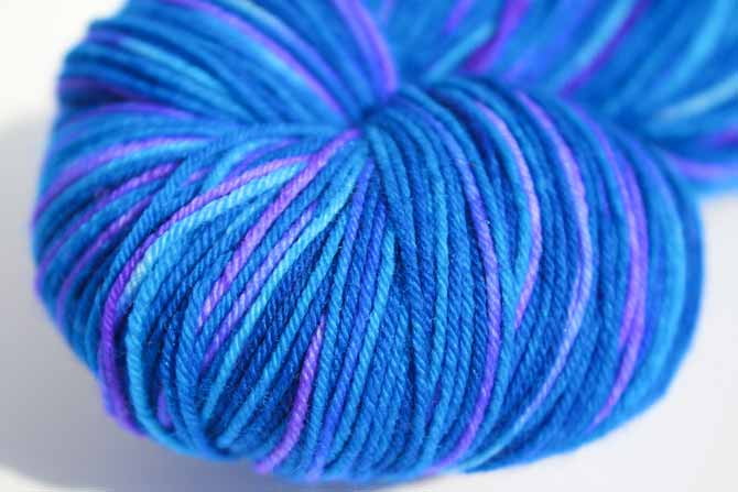 Ultra Blueberry perfectly re-skeined!
