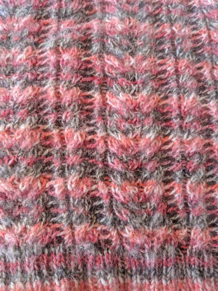 How a yarn's characteristics influence the look of a knitted pattern