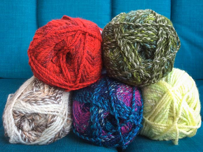 Five different colorways, five different ideas. Just think - Major comes in 30 more colorways! Oh the possibilities!