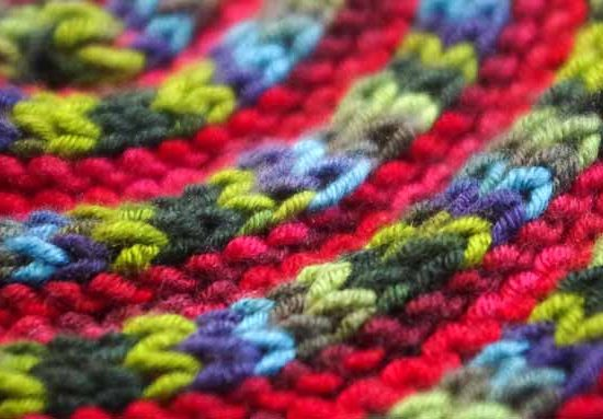 A series of I-cord cast ons and garter stitch alternating to create an edging technique