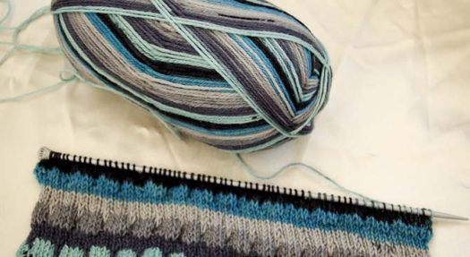 What looks like regular stockinette stitch actually contains sections of stitches that are waiting in line to be dropped! But fear not! The whole piece will not unravel.