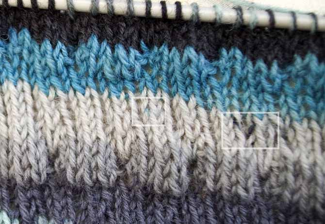 Mystery swatch! Come back to see what I'll do with this cool mix of twisted and not so twisted stitches.