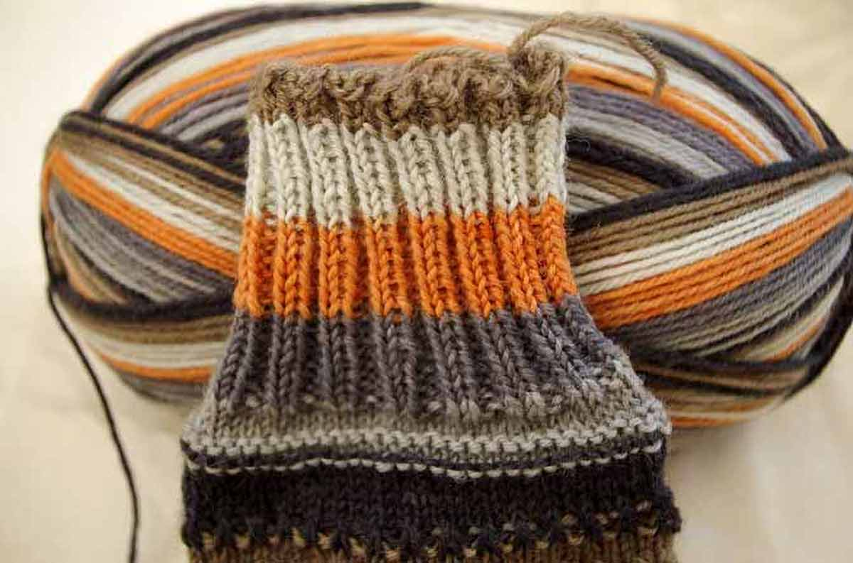 Prose yarn in Foxy colorway has the perfect width of stripes.