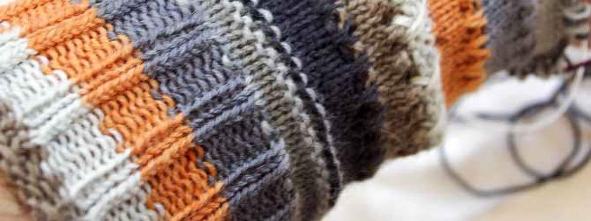 A sneak peek at my cuff-down sock in Foxy Prose!