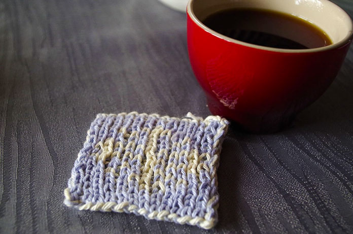 This reversible coaster is perfect to keep those hot tea cups off your furniture.