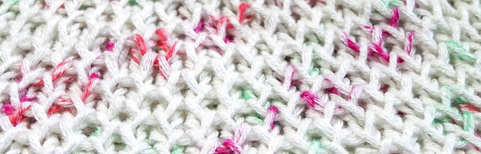 Honeycomb brioche, a variation of the standard brioche stitch that looks great in one color.