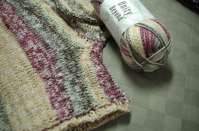 Knitting a shrug-yoke top-down seamless tee shirt - part 1